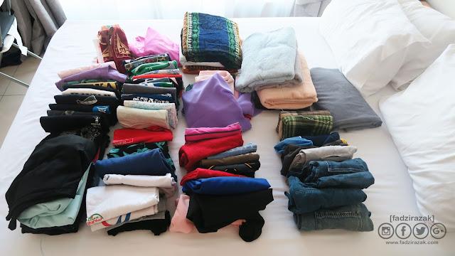Asingkan Baju Yang Sudah Tidak Muat