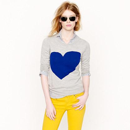J.Crew Tippi heart sweater