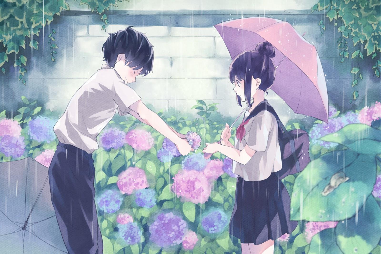 Anime Boy Girl Couple Love Cool Hd Wallpaper Otaku Wallpaper