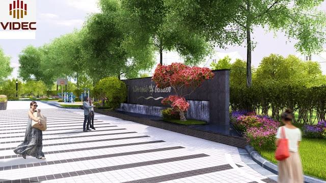 Mặt trước của dự án Riverside Garden