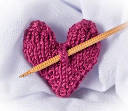 cuore calore di lana