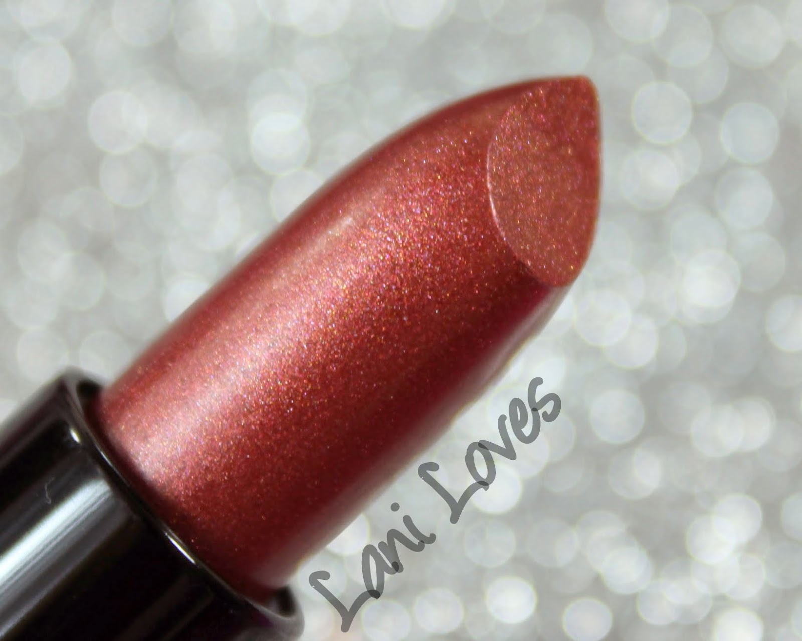NYX Diamond Sparkle Lipstick - Sparkling Rust Swatches & Review