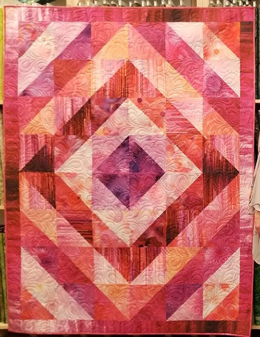 Donna's Gradients Quilt Free Pattern designed by Cozy Quilt Designs for Jordan Fabrics