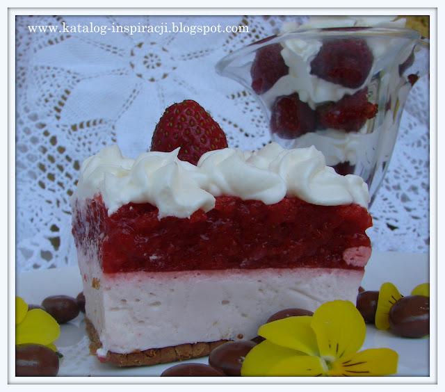Ciasto truskawkowe i deser truskawkowy