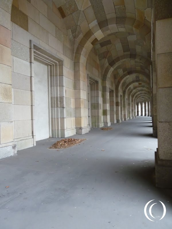 A Walkway on the side of the Congress Hall in Nuremberg