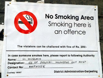 No smoking zone  in mungpoo
