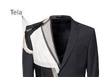 Bir ceketin iç yapısındaki kullanılan telaların gösterimi