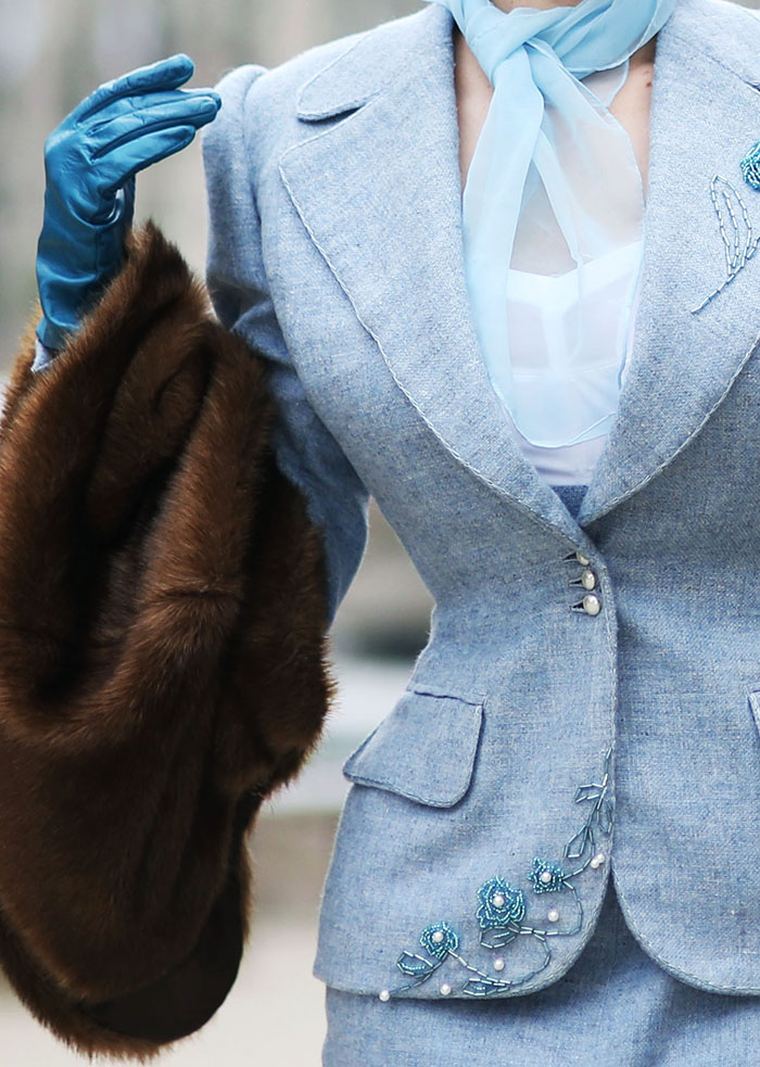 White Fur Stole >> Rachel Ann Jensen ♥: Teal & Tweed || Bespoke Suit & Beau ...