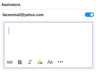 Informações de contato no e-mail