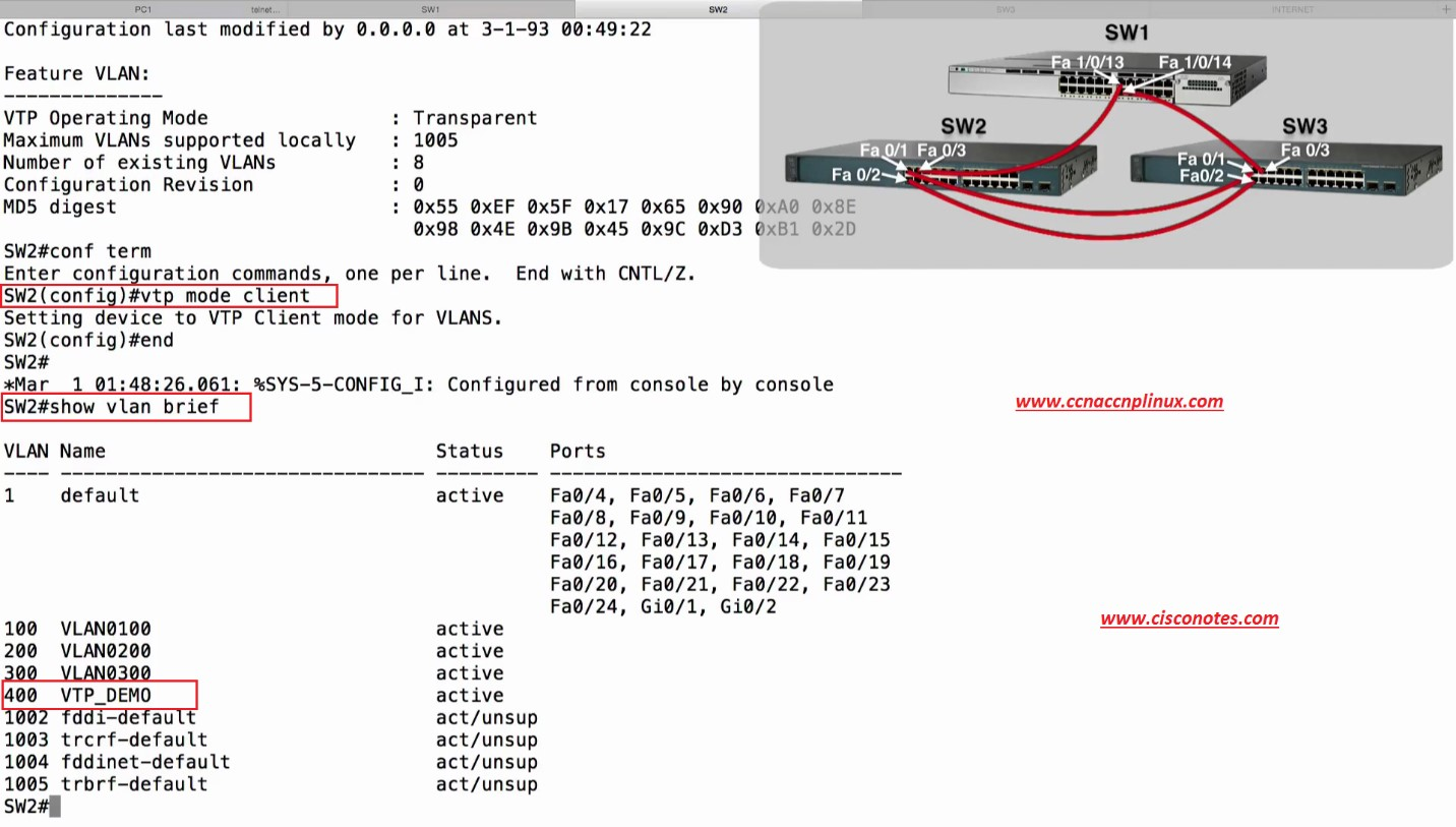 Troubleshooting vtp best cisco ccna ccnp and linuxcentos pdf notes sw2configshow vlan brief pooptronica