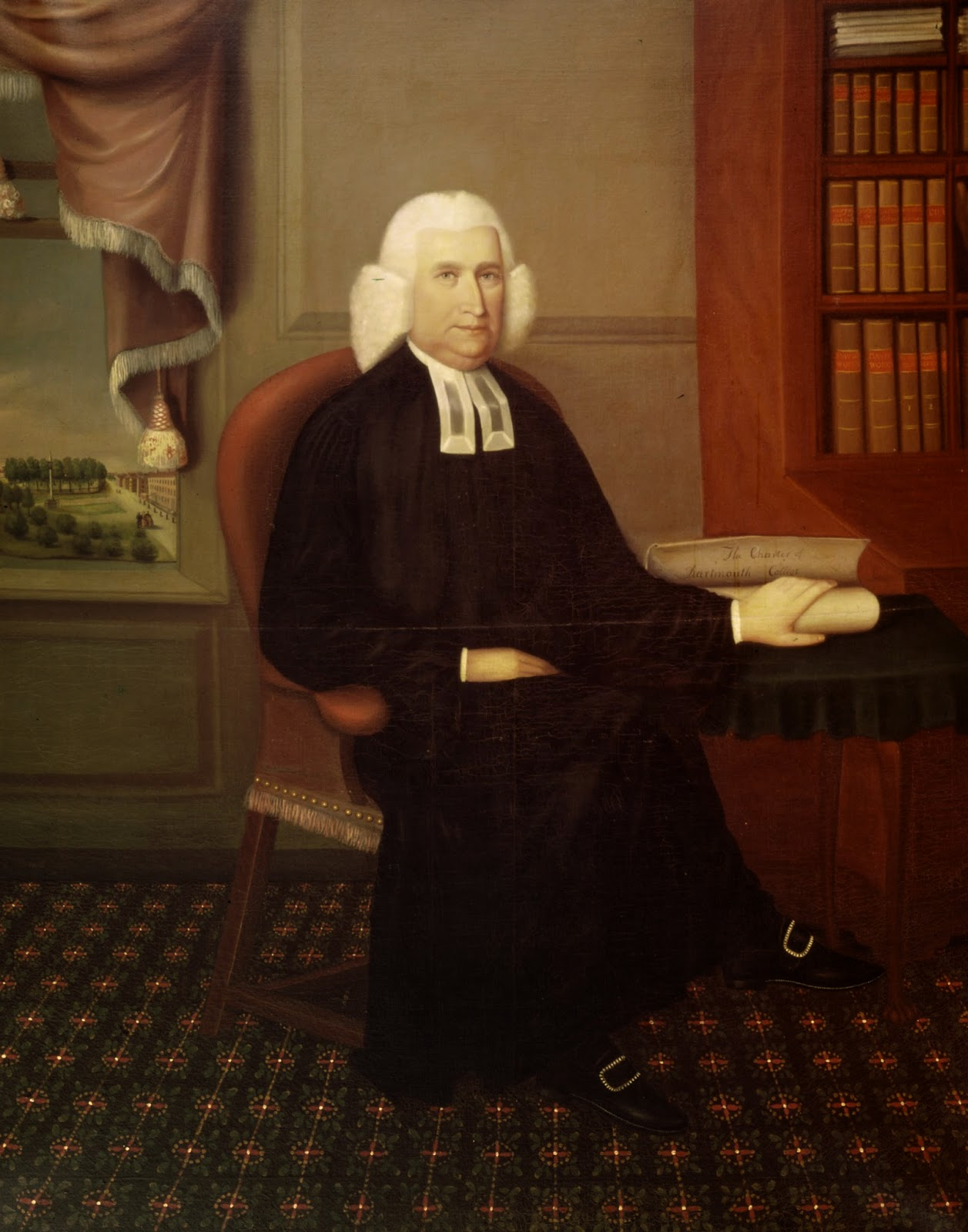A portrait of Eleazar Wheelock.