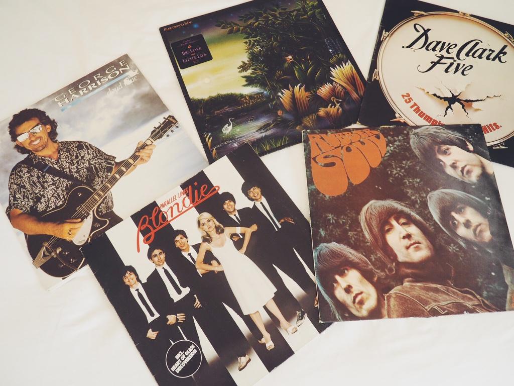 recordcollection, vinyl, vinylcollection, TheBeatlesRubberSoul, BlondieParallelLines, GeorgeHarrisonCloudNine, FleetwoodMac, DaveClarkFive, BombayBicycleClubSoLongSeeYouTomorrow, Haim, CatStevens, Elton John,