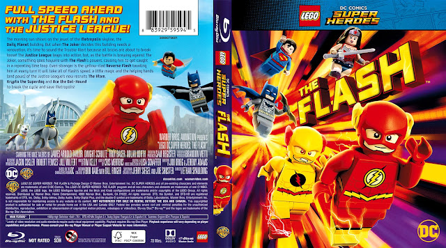 Lego DC Comics Super Heroes: The Flash Bluray Cover