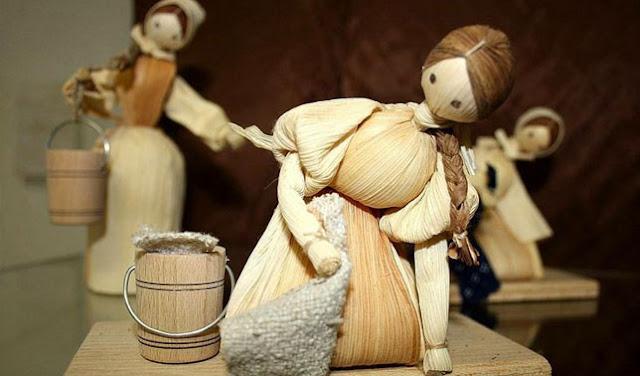 cara membuat boneka dari kulit jagung