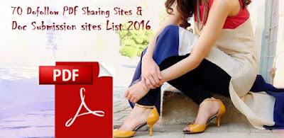 Dofollow PDF Sharing Sites