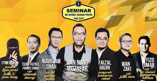 Seminar Ini Bisnes Bukan Propa – 13 & 14 Mei 2017
