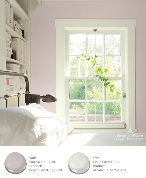 Benjamin Moore Porcelain is one of 24 beautiful colors in the 2017 color palette