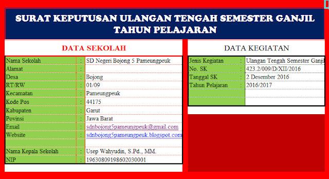 Download Aplikasi Cetak Surat Keputusan ( SK ) Sekolah Format Microsoft Excel