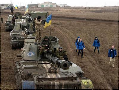 Παρατηρητές του ΟΑΣΕ καταγράφουν την κίνηση ουκρανικών Α/Κ πυροβόλων τον Μάρτιο του 2015
