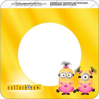 Banderines de Minions Chicas para imprimir gratis.