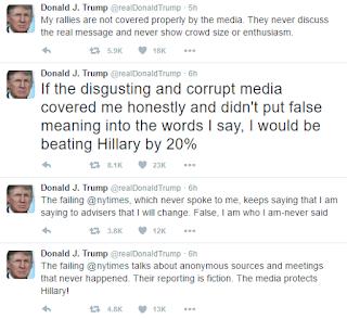 Trump tweet ignorance like a stuck pig bleeds