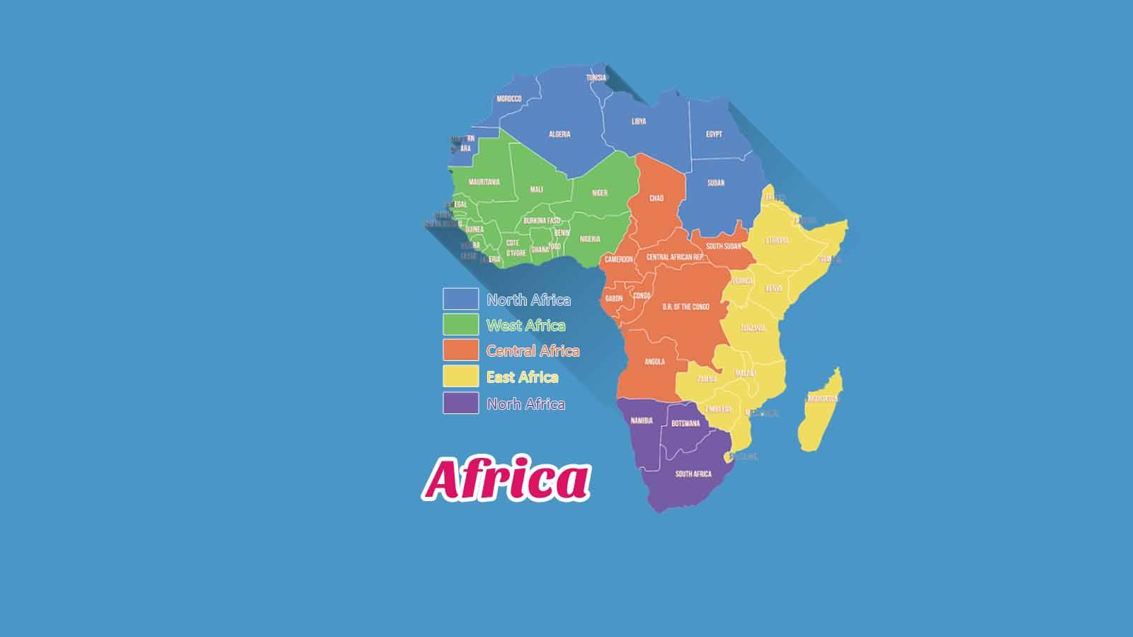 Kosakata Bahasa Inggris Negara Di Benua Afrika Disertai Gambar