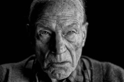 Patrick Stewart playing the role of Professor Xavier in Logan