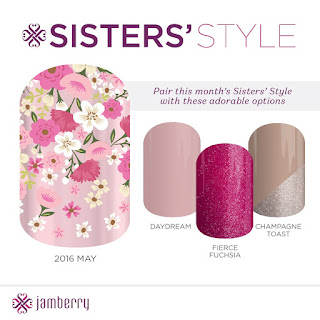 may sister's style exclusive wrap from Jamberry Nails nailart floral garden metallic rose gold