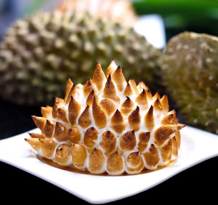 Recipe Durian Baked Alaska Bombe Optional