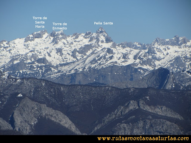 Ruta Belerda-Visu La Grande: Vista del Macizo Occidental de Picos de Europa