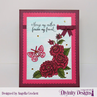 Divinity Designs Stamp Set: Daughter's Best Friend, Custom Dies: Mini Bow, Scalloped Rectangles, Double Stitched Rectangles, Bitty Butterflies