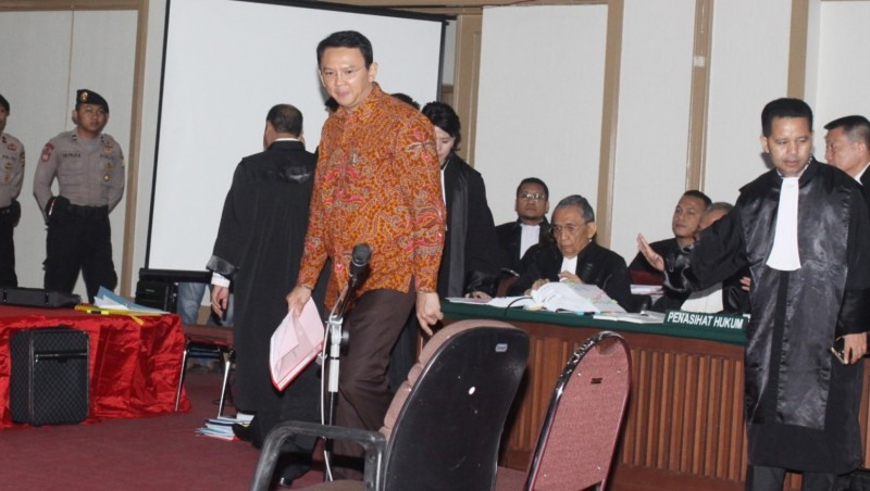 Ahok menghadiri sidang ke-17 kasus penistaan agama