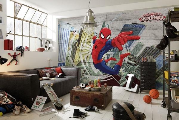 Superhjältar Tapet  Spiderman Marvel Barnrum Superhjälte Tapeter