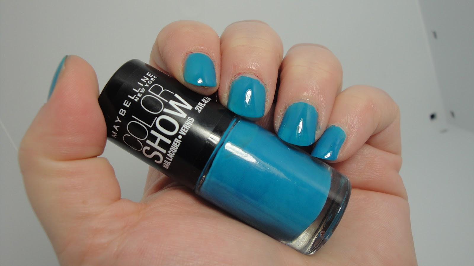 Jayded Dreaming Beauty Blog Notd Maybelline Color Show Nail Lacquer 370 Shocking Seas