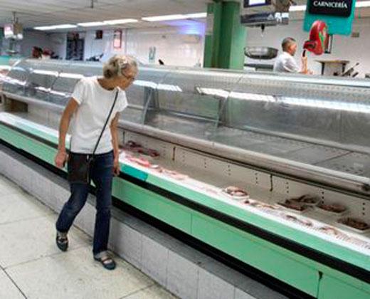 Escasez de alimentos en comercios es de 70%