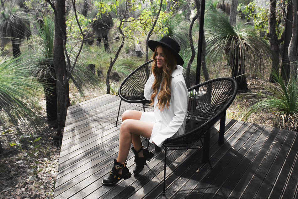 luxury accommodation, Margaret River, weekend escape, Balenciaga Ceinture ankle boots