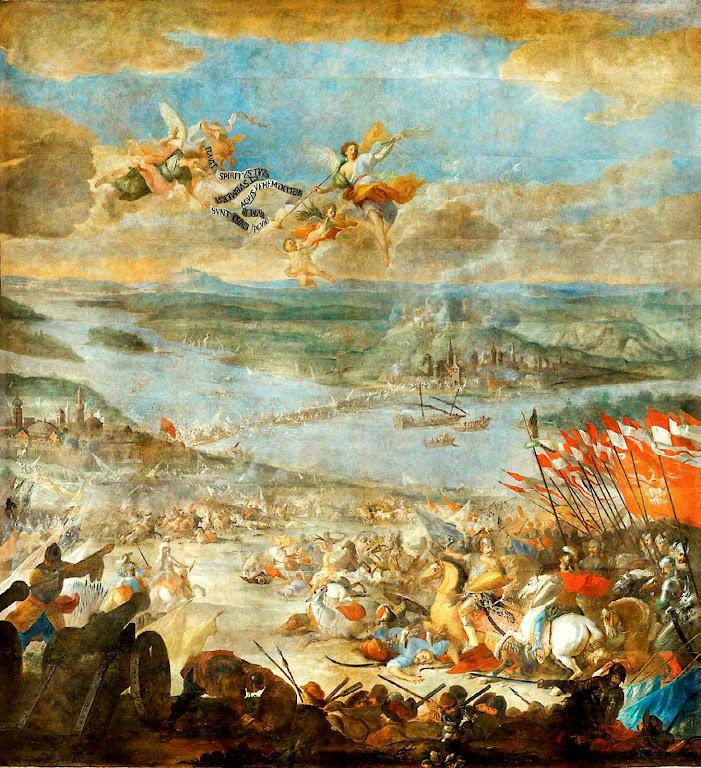 Batalha de Parkany, Martino Altomonta (1657-1745), Lviv National Art Gallery, Ucrânia.