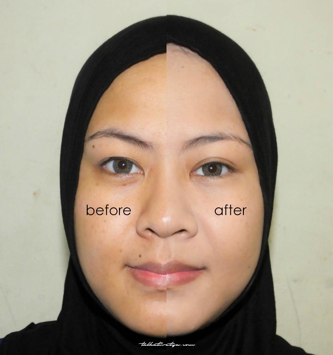 Ultima Ii Delicate Creme Powder Make Up 13 Gr 04 Buff Daftar Translucent Face 24g Before Dan After Penggunaan