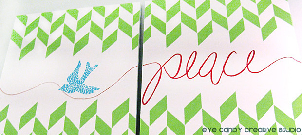hand lettered peace art, dove art, painting on canvas, hand lettering