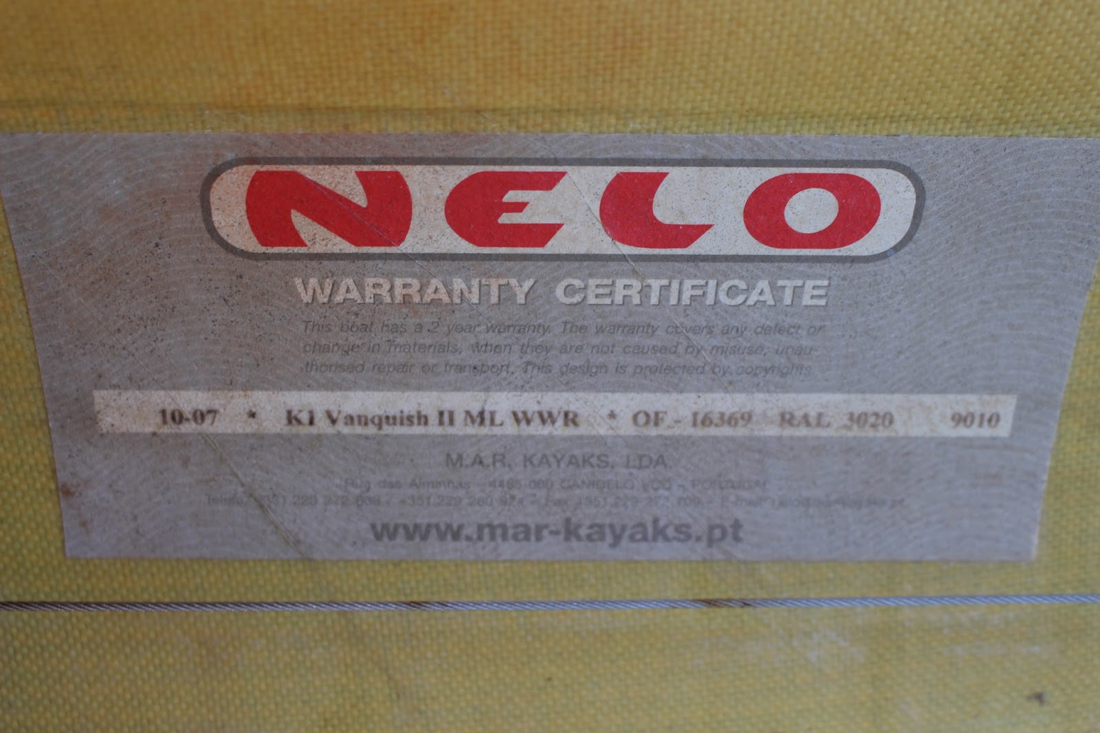 My Training Blog by Elmore: For sale: Nelo