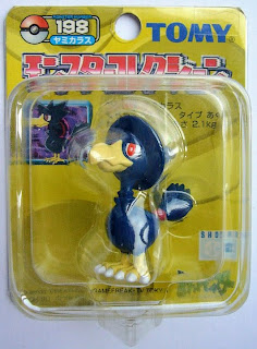 Murkrow figure Tomy Monster Collection yellow package series