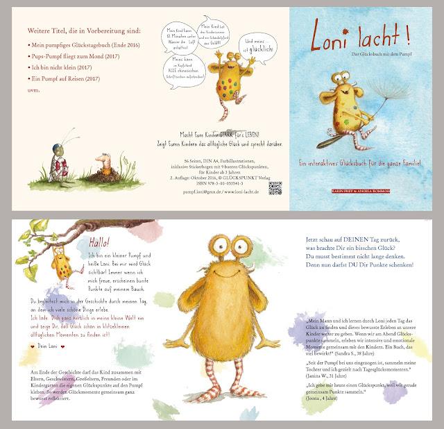 Glücksbuch, Glückspumpf, Loni lacht, Neuerscheinung 2016, Kinderbuch, Resilienz, GLÜCKSPUNKT Verlag, Kommoß