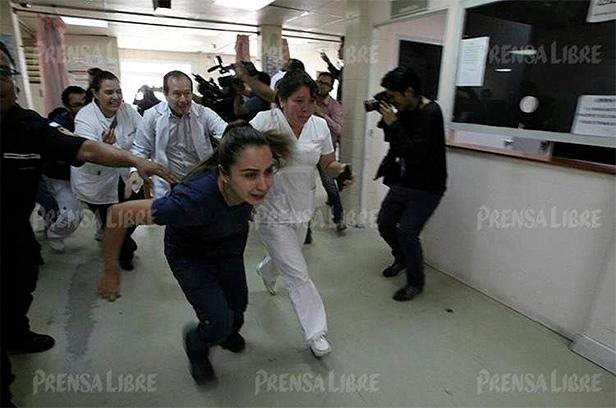 balacera hospital roosevelt, jimmy morales, guatemala, hospital roosevelt, pandileros