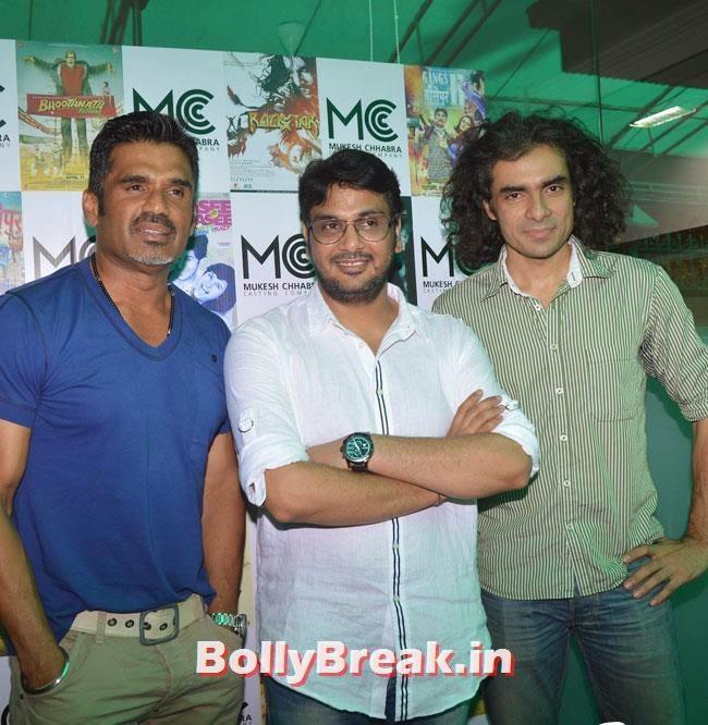 Sunil Shetty, Mukesh Chhabra and Imtiaz Ali, Shradha  & Aditi at Mukesh Chhabra Casting Studio Launch