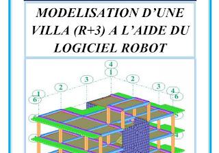 Modélisation d'une villa R+3 avec le logiciel robot :