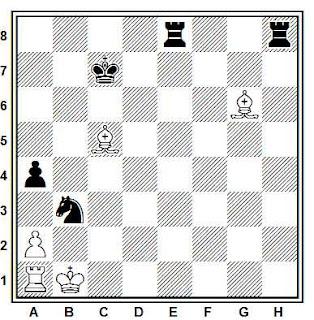 Estudio artístico de ajedrez compuesto por V. Pachman (1º premio, Schachmaty 1961)