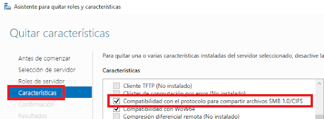 Windows: Deshabilitar SMB 1.0