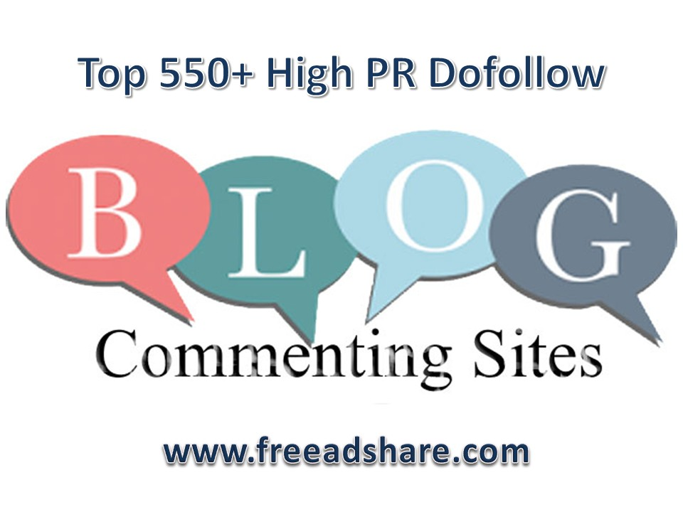 Top 550+ High Dofollow Blog Commenting Sites to Build