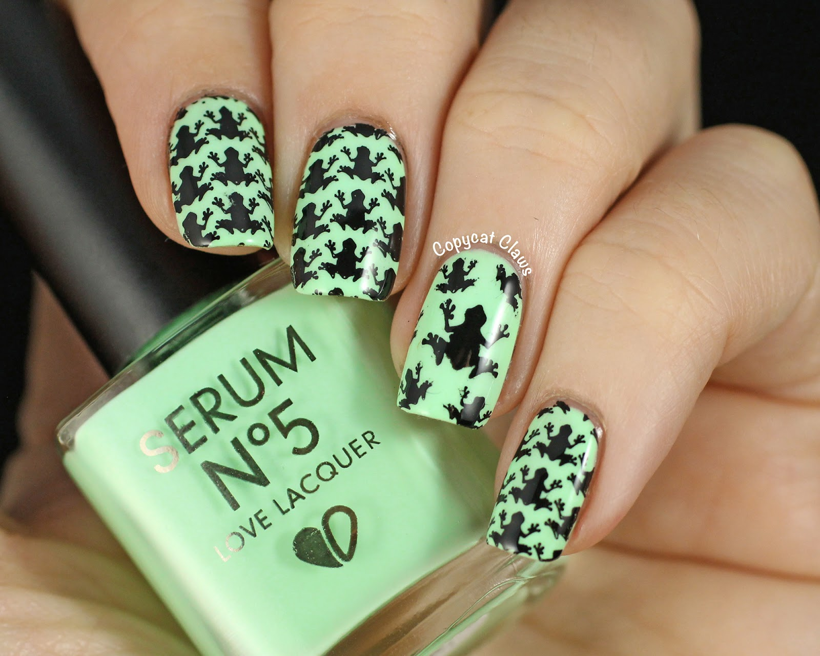Copycat Claws: Some Serum No. 5 SS14 Glow In The Dark Polishes