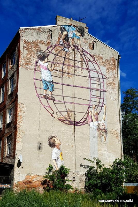 Warszawa Warsaw plac zabaw streetart graffiti Praga Północ praskie klimaty